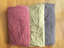 PBK Lot Pottery Barn Kids 3 Gingham Squares Fitted Crib Sheets / Red Blue Green