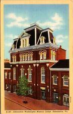 Postcard Alexandria Washington Mosonic Lodge Alexandria Va.