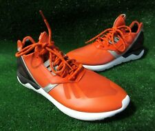 ADIDAS HOMBRE CORREDOR DE Tubular Zapatillas Para Correr Naranja Talla 12