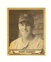 1940 Play Ball #86 Harry Gumbert New York Giants VG upper right corner crease