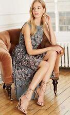 Bnwt🌹Next🌹Size 8 Tall Grey Floral Print Pleated Skirt Dipped Hem Maxi Dress