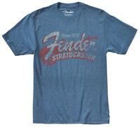 "Genuine Fender ""Since 1954"" Guitar Logo Tee Men's T-Shirt - BLUE - M, MEDIUM"