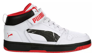 Puma Rebound Layup Strap Men's Shoes Sneakers Running Basketball Mid High Top