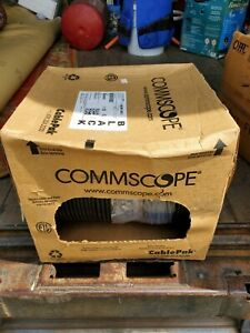 1000' Commscope 9900963 Brightwire RG-6 Coax, 1 Pr 22AWG solid & Steel Messenger