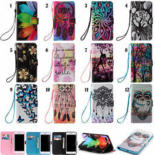 For Iphone LG Sony Huawei Phone Strap Wallet ID Card Flip Leather Case Cover YB