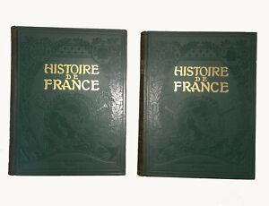 HISTOIRE de FRANCE - 2 TOMES - LAROUSSE 1909