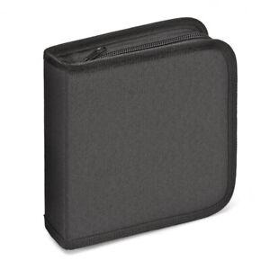 CD Mappe Nylon Aufbewahrungmappe Wallet Tasche für 40 CDs/DVDs/Bluerays