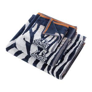 Roberto Cavalli hand towel +bath towel - bath sheet ZEB blue
