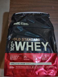 Optimum Nutrition ON 100% Whey Protein Gold Standard Vanilla Ice Cream 10lb