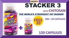 STACKER3 3 WORLD'S STRONGEST FAT BURNER 2 ENERGY (100 + FREE 20 Capsules) = 120