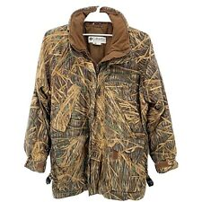 Vtg Columbia Mens Shadow Grass Camo Waterproof Hunting Jacket Lined Sz M/L