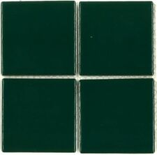 "Fujiwa Porcelain Swimming Pool Waterline Tile -VIP-711 HUNTER GREEN 3"" X 3"" PAC2"