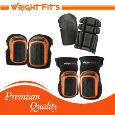 WrightFits Pro Gel Knee Pads For Safety Work - Heavy Duty Knee Inserts Foam Pads