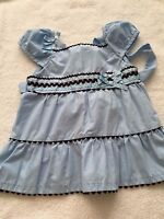 Rare Editions girls 24 months dress shirt top blue 2T