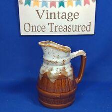"""Obernai Barrel Jug / Pitcher P.65 (6"""") Vintage Drip Glaze French Alsace Pottery"""