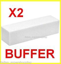 KIT 2 BUFFER X RICOSTRUZIONE UNGHIE UV NAIL ART GEL LIME MANICURE SMALTO KIT !!!
