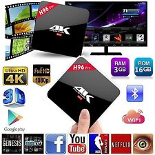 HD 4K Smart TV BOX H96 PRO Android 6.0 Octa Core 3GB/16GB BT WIFI Media Player