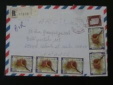 shell seashell registered airmail cover Algeria 88747