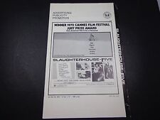 X  MOVIE PRESSBOOK-slaughterhouse FIVE-