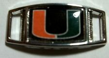 Set Of 2 University Of Miami HURRICANES Shoelace Charms For Paracord Projects