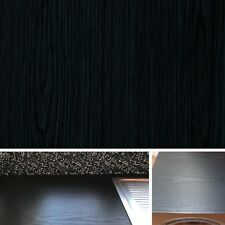 NEW DIY Kitchen Worktop Black Wood Vinyl Cover Self Adhesive Sticky Back Wrap