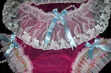 Stunning cerise pink sheer nylon ladies panties knickers CD TV SISSY XXXL