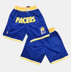 Navy LANQIU Outdoor Herren Indiana Team Mesh Basketball Shorts Schwarz Pacers Swingman Shorts 2019//20 Atmungsaktives Gewebe Wettbewerb