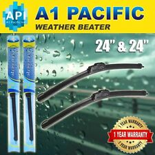 "All season Bracketless J-HOOK Windshield Wiper Blades OEM QUALITY 24"" & 24"""
