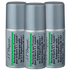 3 CANS ST DUPONT GREEN BUTANE GAS REFILL FOR GATSBY PETIT LINE LINGE 2 LIGHTER