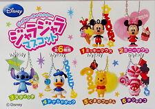 Disney Mickey Minnie Stitch Pooh Donald Cheshire Figure Keychian,6pcs-Re-ment