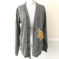 A+ School Apparel Inc. Los Angeles Womens Cardigan Size SMALL Gray Button Front