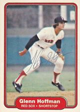 1982 Fleer Signed #296 Glenn Hoffman Red Sox Autograph JSA SS