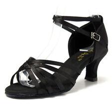 Generico 1 par Mujer Zapatos Tacon De Salsa Bachata Latinos Baile Sandalias I5H8