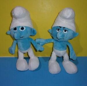 "Smurfs Smurf Stuffed plush Clumsy & Grouchy 11"" Stuffed Plush Characters"