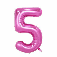 """40"""" Giant Pink Five Year Old Baby First Birthday 5 Month Number Float Balloon US"""