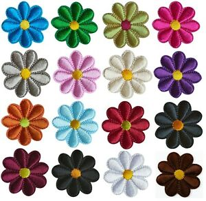 Beautiful Daisy Flower Embroidered Iron On Sew On Patches Patch Badges Transfers