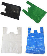 All Sizes & Colours Strong Plastic Vest Carrier Bags For Supermarkets Stalls New