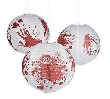 "6 Halloween BLOODY Zombie Party Paper Lanterns WALKING DEAD Apocalypse BIG 12"""