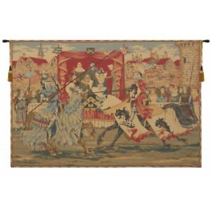 Medieval Lists European Tapestry Wall Hanging