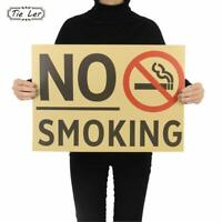 Kraft Poster No Smoking Paper Wall Sticker Bar Cafe Restaurant Room Sign Decor