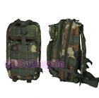 Tactical Day pack Camping Hiking Molle Backpack Rucksacks 24L Bag Camo Woodland