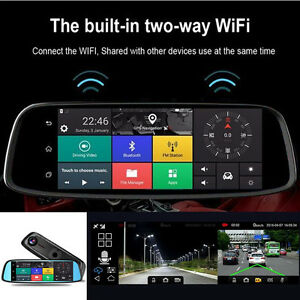 "8"" HD 4G Touch GPS Bluetooth WIFI Dual Lens DVR Car Video Recorder Dash Camera"