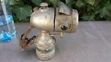 Ancienne lampe de vélo à acétylène type obus, LUMINOR
