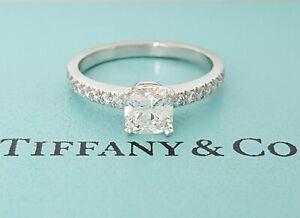 Tiffany & Co NOVO 0.89 ct Platinum Cushion Diamond Engagement Ring F/VVS1 $10.3K