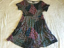 womens flowy Boho pattern dress SIZE 1X NEW