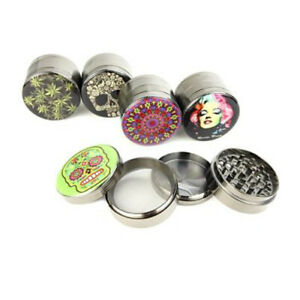 Herb,Skull, Marilyn D-2.5″ 4-Piece Metal Grinder Assorted Design - Free Shipping