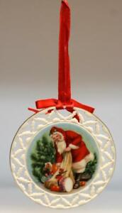 Lenox Santa's Portraits Ornaments Collection Santa's Visit 1989