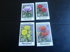 SWAZILAND 1987 SG 533-536 GARDEN FLOWERS MNH