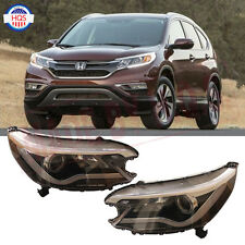 Projector Headlights For Honda CR-V 2012-2015 With Angel Eye LED Light DRL Lamp