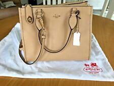 Coach Handbag - with shoulder strap -  Sand/beige leather